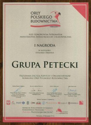 """151203petecki1 - PETECKI zdobywa: """"Zasłużony dla Polskiego Budownictwa"""" i """"Orzeł Polskiego Budownictwa"""""""
