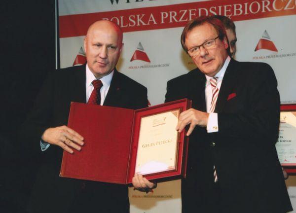 """151203petecki2 - PETECKI zdobywa: """"Zasłużony dla Polskiego Budownictwa"""" i """"Orzeł Polskiego Budownictwa"""""""