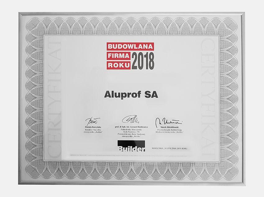 190131aluprof1 - Aluprof z dwoma prestiżowymi tytułami na Gali Builder Awards
