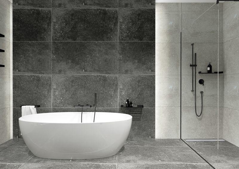 191017deante1 - Czarne kabiny prysznicowe - element loftowej łazienki