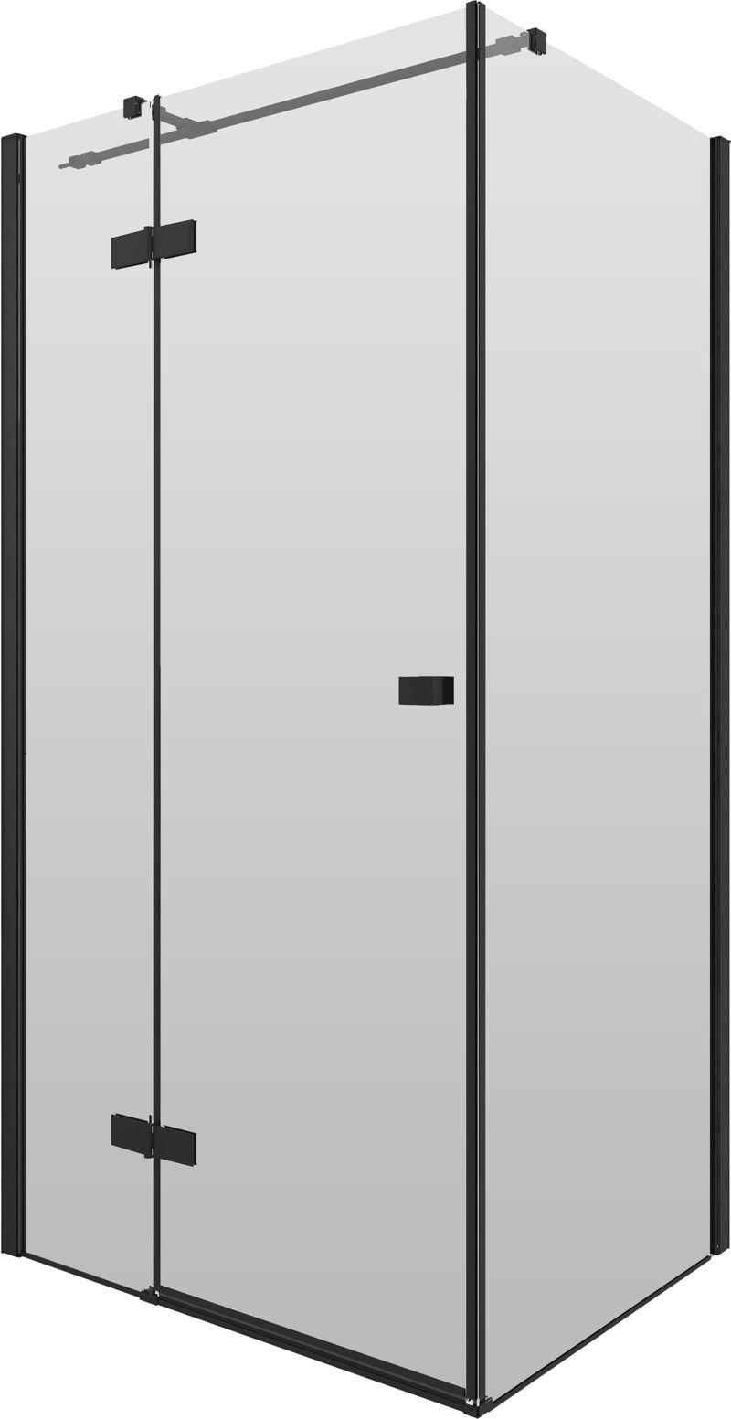 191017deante3 - Czarne kabiny prysznicowe - element loftowej łazienki